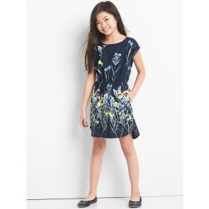 Floral cap dress