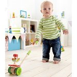 Hape Dancing Butterflies Toddler Wooden Push and Pull Toy