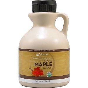 Vitacost Certified Organic Maple Syrup Grade B - Non-GMO -- 16 fl oz (473 mL) - Vitacost