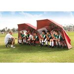 Sport-Brella Portable All-Weather and Sun Umbrella, 8-Foot Canopy, Red
