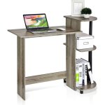 Furinno 11181GYW/BK 紧凑型电脑桌 橡木灰色