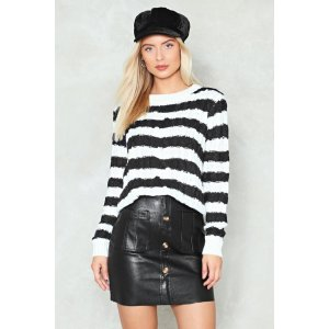 Stripe off the Bat Relaxed Sweater | Shop Clothes at Nasty Gal!