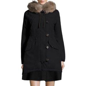 Aredhel Removable Fox Fur Nylon Jacket