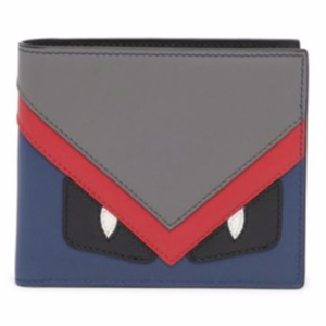 Fendi - Monster Leather Bifold Wallet - saks.com