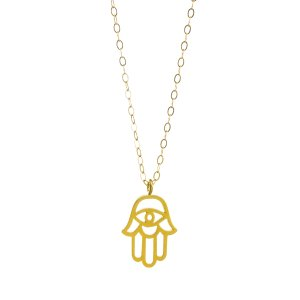 Large Hamsa Necklace, Gold Dipped | Dogeared