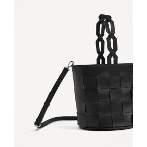 GEOMETRIC BUCKET BAG WITH BRAIDED HANDLE - View all-BAGS-WOMAN | ZARA United States