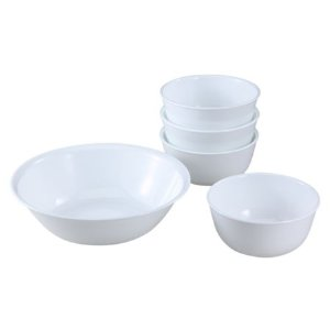 Livingware™ Winter Frost White 5-pc Snack Set
