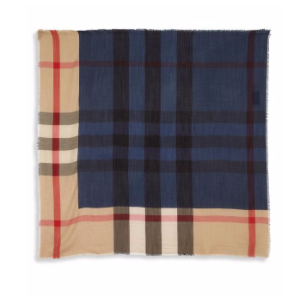 Burberry - Checkered Cashmere Scarf - saks.com