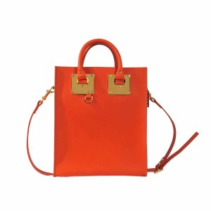 Mini Albion Tote Bag Sophie Hulme Orange - Monnier Frères