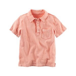 Baby Boy Sunwashed Jersey Polo | Carters.com