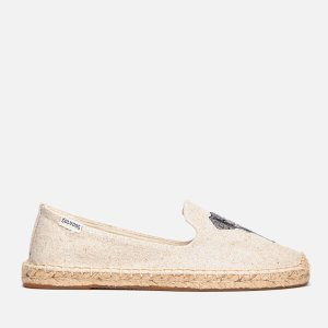 Soludos Women's Elephant Smoking Slipper Espadrilles - Sand - FREE UK Delivery