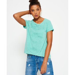 Superdry Osaka Embossed Bright Boyfriend T-shirt - Women's T Shirts
