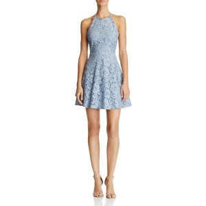 AQUA Lace High Neck Dress - 100% Exclusive | Bloomingdale's