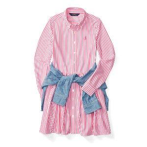 Striped Pima Cotton Shirtdress - Dresses � Girls' 2-6X - RalphLauren.com