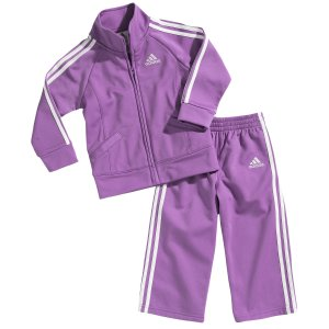 adidas Tricot Set - Girls' Infant - Casual - Clothing - Hyacinth