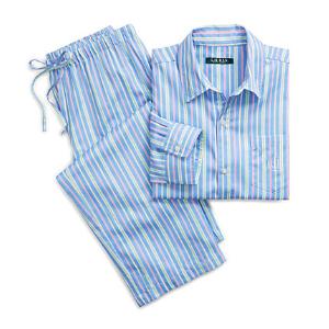 Striped Sateen Pajama Set - Sleepwear \u0026 Robes   Women - RalphLauren.com
