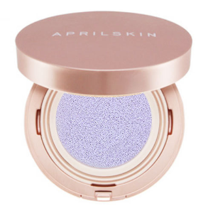 Yamibuy- 韩国APRIL SKIN 魔法美白粉红公主气垫粉饼 #03紫色 15g