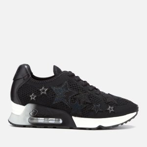 Ash Women's Lucky Star Knitted Runner Trainers - Black