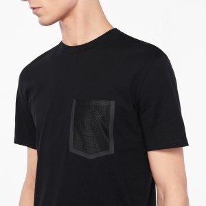 T-shirt with mesh pocket - T-shirts & Polos - Sandro-paris.com