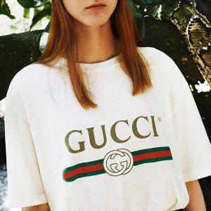 $550GUCCI  Logo-print cotton T-shirt @ MATCHESFASHION.COM