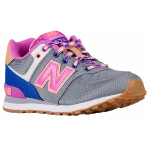 New Balance 574 - Girls' Grade School - Running - Shoes - Grey/Pink/Weekend