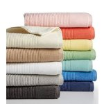 Martha Stewart Collection Quick Dry Reversible Towel Collection, 100% Cotton
