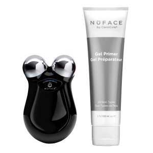 NuFACE Black Refreshed Mini Facial Trainer & Gel Primer