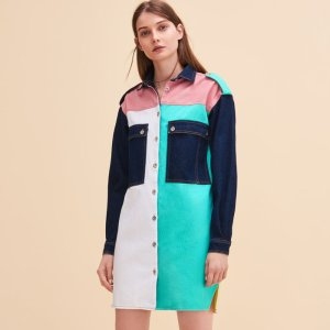 RHODES Multicoloured denim shirt dress