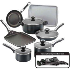 Farberware® High Performance 17-pc. Nonstick Cookware Set, Black