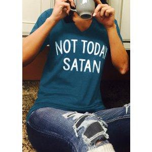 Not Today Satan T-Shirt - Fairyseason