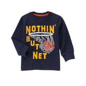 Toddler Boys Gym Navy Net Long Sleeve Tee by Gymboree