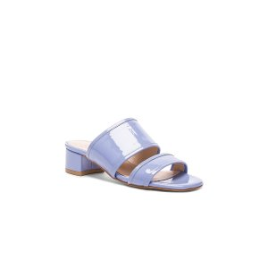 Maryam Nassir Zadeh Patent Leather Martina Slide Sandals in Periwinkle Patent |