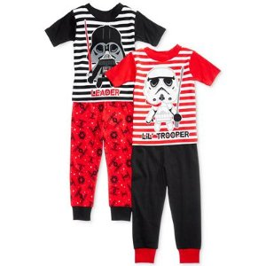 Star Wars 4-Pc. Cotton Pajama Set, Toddler Boys (2T-5T) - Sale & Clearance - Kids & Baby - Macy's