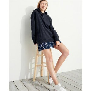 Girls Distressed Oversized Hoodie | Girls Hollister Sale | HollisterCo.com