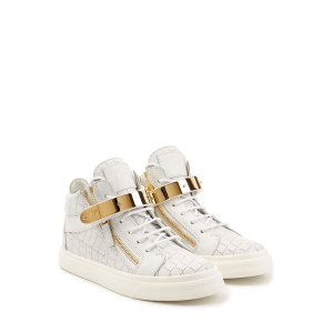 Embossed Leather Hip-Tops with Gold Hardware - Giuseppe Zanotti