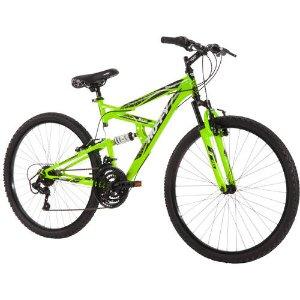 $59Huffy Rock Creek 18速26寸 男式山地自行车 荧光绿