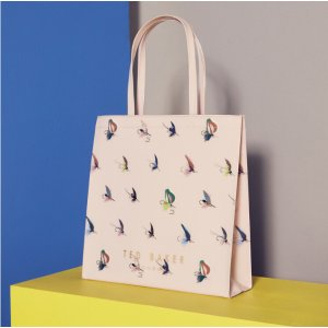 Fly fish shopper bag - Pale Pink | Accessories | Ted Baker