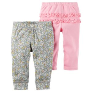Carter's Little Baby Basics Girl 2-Pack Pants - JCPenney