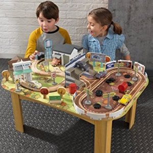 $90.76KIDKRAFT Disney Pixar Cars 3 Thomasville 70 Piece Wooden Track Set with Accessories and Table