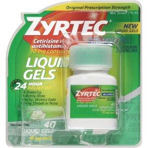 Zyrtec Allergy Relief Liquid Gels, 40 Ct | Jet.com