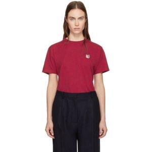 Maison Kitsuné - Red Fox Head Patch T-Shirt