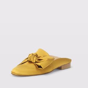 蝴蝶结绸缎拖鞋