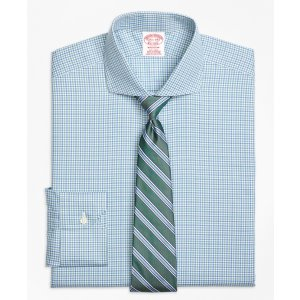 Non-Iron Madison Fit Micro Framed Gingham Dress Shirt