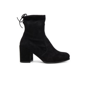 Stuart Weitzman Suede Shorty Booties in Black