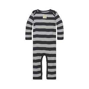 Rugby Stripe Footless Coverall - Burts Bees Baby