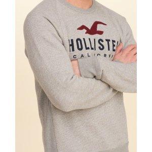 Guys Logo Graphic Crew Sweatshirt | Guys Clearance | HollisterCo.com