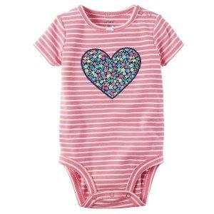 Striped Heart Bodysuit