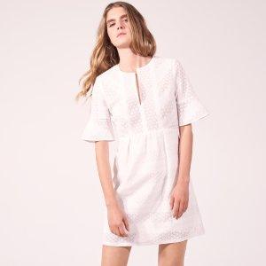 V-Neck Lace Dress - Dresses - Sandro-paris.com