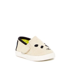 TOMS | Avalvon Panda Embroidered Shoe (Baby, Toddler, & Little Kid) | HauteLook