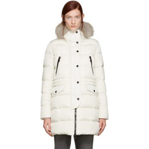 Ivory Fur & Down Fragonette Coat